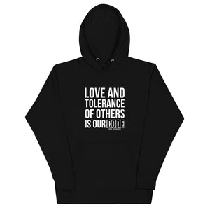 Love and Tolerance - Unisex Hoodie
