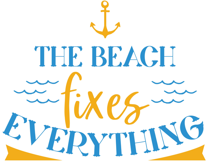 The Beach Fixes Everything Free SVG Instant Download