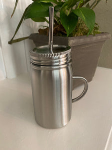 Stainless steel mason jar