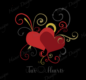 Two Hearts Red