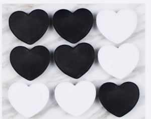 Heart black phone grips