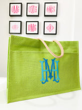 Load image into Gallery viewer, Jute Tote -Green
