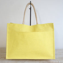 Load image into Gallery viewer, Jute Tote - Yellow