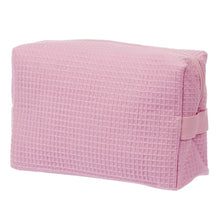 Load image into Gallery viewer, Waffle Makeup Bag - Light Pink