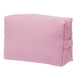 Waffle Makeup Bag - Light Pink