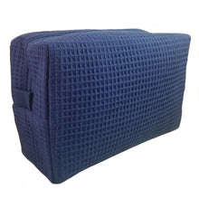 Load image into Gallery viewer, Waffle Makeup Bag - Navy