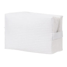 Load image into Gallery viewer, Waffle Makeup Bag - White