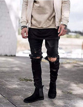 Load image into Gallery viewer, Stretchy Ripped Skinny Biker Jeans