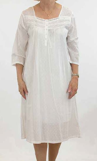 FRENCH COUNTRY - 3/4 SLEEVE NIGHTIE