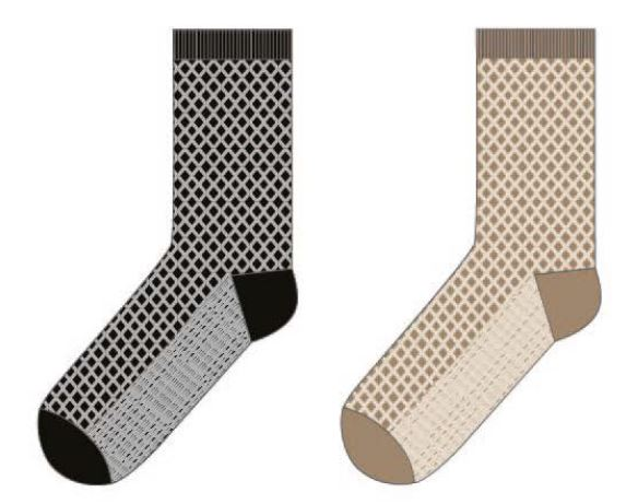 LEVANTE - CROSS HATCH - CREW SOCK