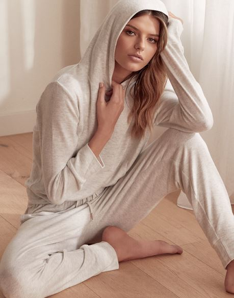 GINGERLILLY - MARLENA - HOODED LOUNGEWEAR SET