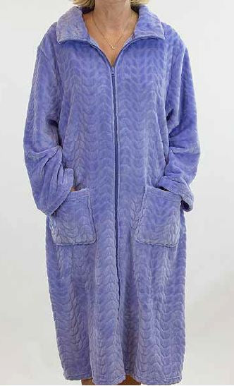 FRENCH COUNTRY - FLEECE ZIP FRONT ROBE