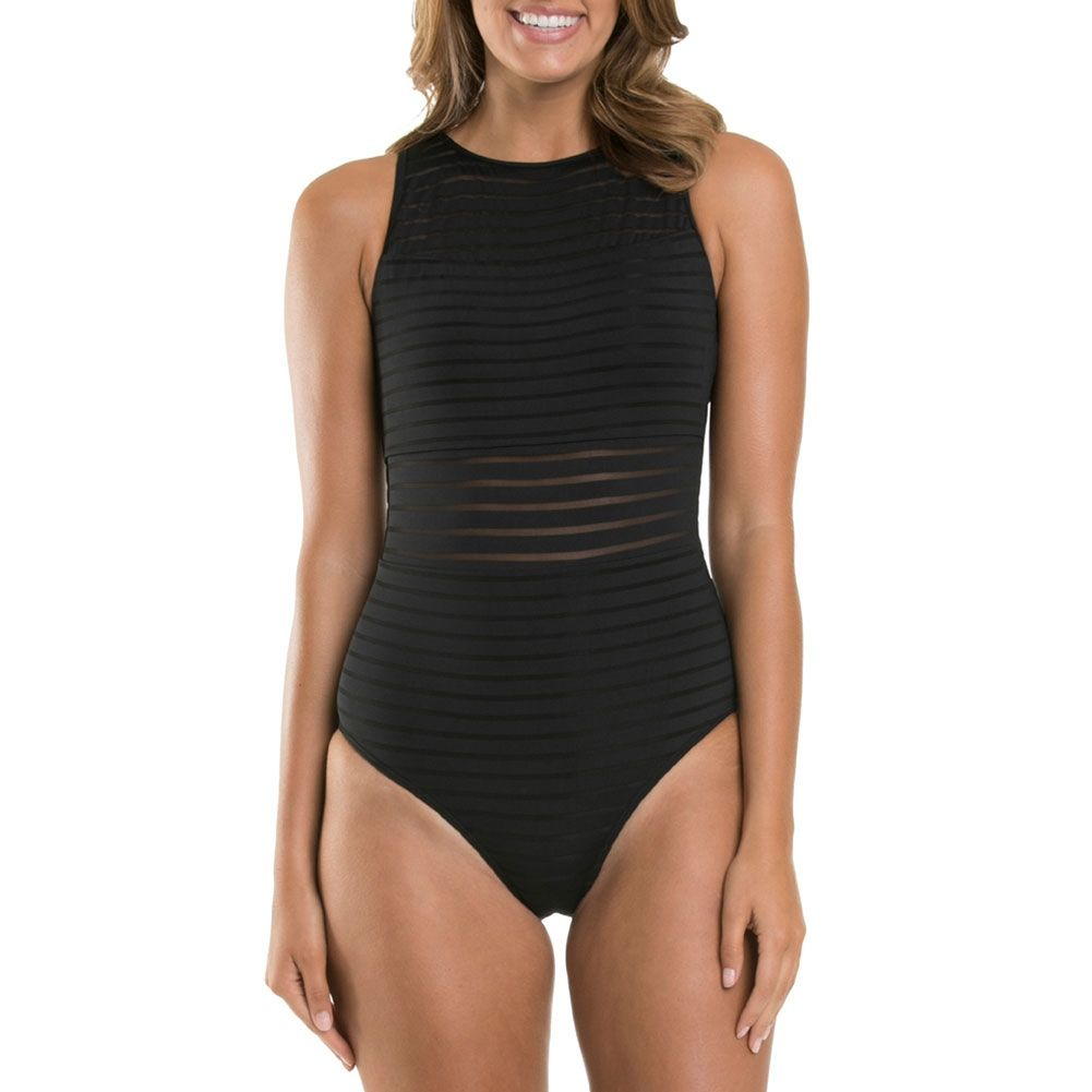 JETS - PARALLELS - HIGH NECK ONE PIECE