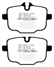 Load image into Gallery viewer, EBC 12+ BMW M5 4.4 Twin Turbo (F10) Redstuff Rear Brake Pads - free shipping - Fastmodz