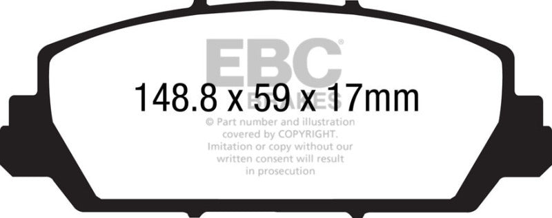 EBC 12+ Acura RDX 3.5 Greenstuff Front Brake Pads - free shipping - Fastmodz