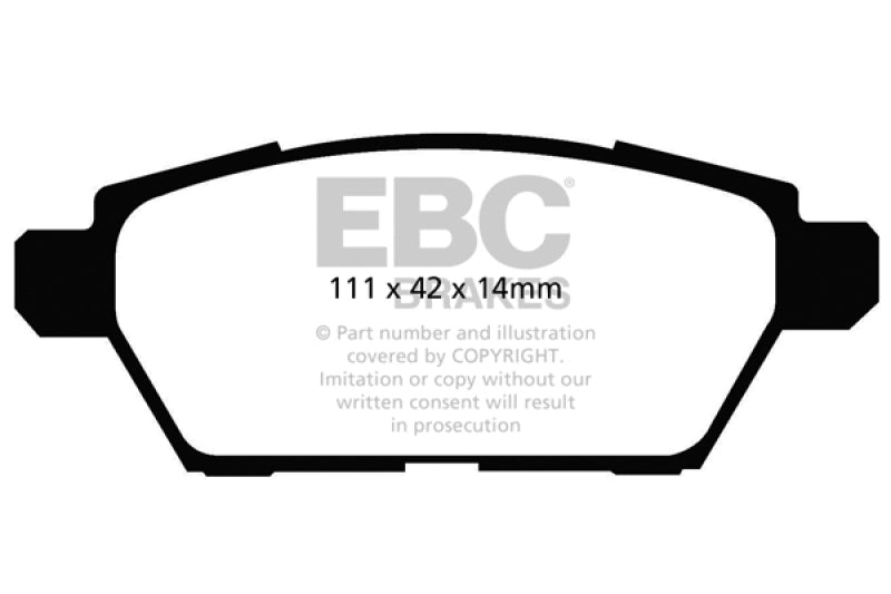 EBC 06-09 Ford Fusion 2.3 Redstuff Rear Brake Pads - free shipping - Fastmodz