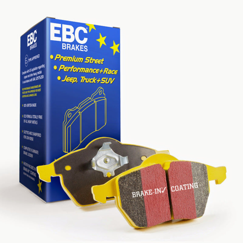 EBC 12-15 Porsche 911 (991) (Cast Iron Rotor only) 3.8 Carrera S Yellowstuff Rear Brake Pads - free shipping - Fastmodz