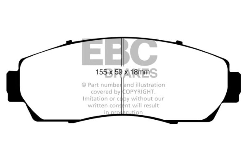 EBC 07-09 Acura RDX 2.3 Turbo Redstuff Front Brake Pads - free shipping - Fastmodz