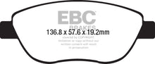 Load image into Gallery viewer, EBC 14-17 Fiat 500 Redstuff Ceramic Low Dust Front Brake Pads - free shipping - Fastmodz