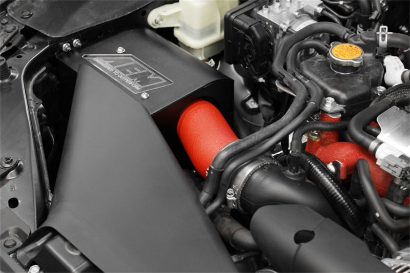 AEM Induction - [product_sku] - AEM 2018 Subaru WRX STI 2.5L H4 F/I Cold Air Intake System - Wrinkle Red - Fastmodz
