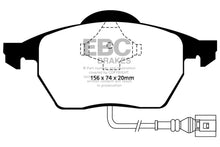 Load image into Gallery viewer, EBC 99-05 Volkswagen Beetle 1.8 Turbo Greenstuff Front Brake Pads - free shipping - Fastmodz