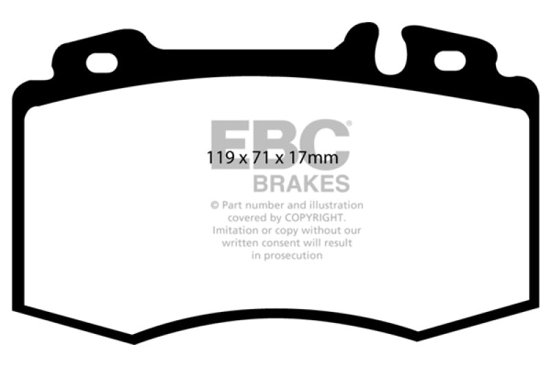 EBC 02-04 Mercedes-Benz C32 AMG (W203) 3.2 Supercharged Redstuff Front Brake Pads - free shipping - Fastmodz