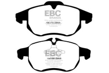 Load image into Gallery viewer, EBC 03 Saab 9-3 2.0 Turbo (Arc) Redstuff Front Brake Pads - free shipping - Fastmodz