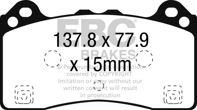 EBC 2016-2017 Ford Focus RS Front Greenstuff Brake Pads - free shipping - Fastmodz