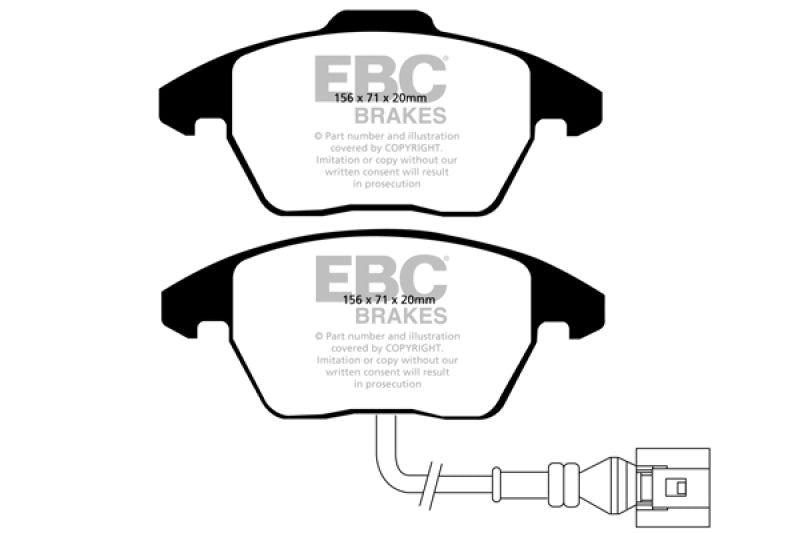EBC 06-13 Audi A3 2.0 Turbo (Girling rear caliper) Greenstuff Front Brake Pads - free shipping - Fastmodz