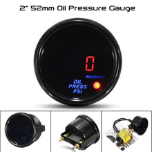"Load image into Gallery viewer, Innovative Performance - [product_sku] - Gauge 2"" 52mm Turbo Boost Oil Pressure Oil Temperature Water Temperature Tachometer Voltage Gauge Digital LED Display Car Meter - Fastmodz"
