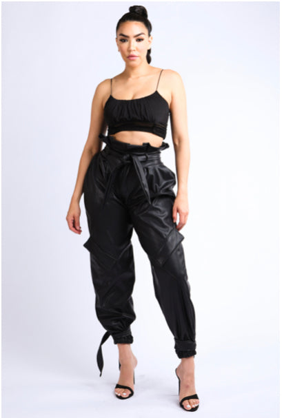 FAUX LEATHER SEXY PANTS