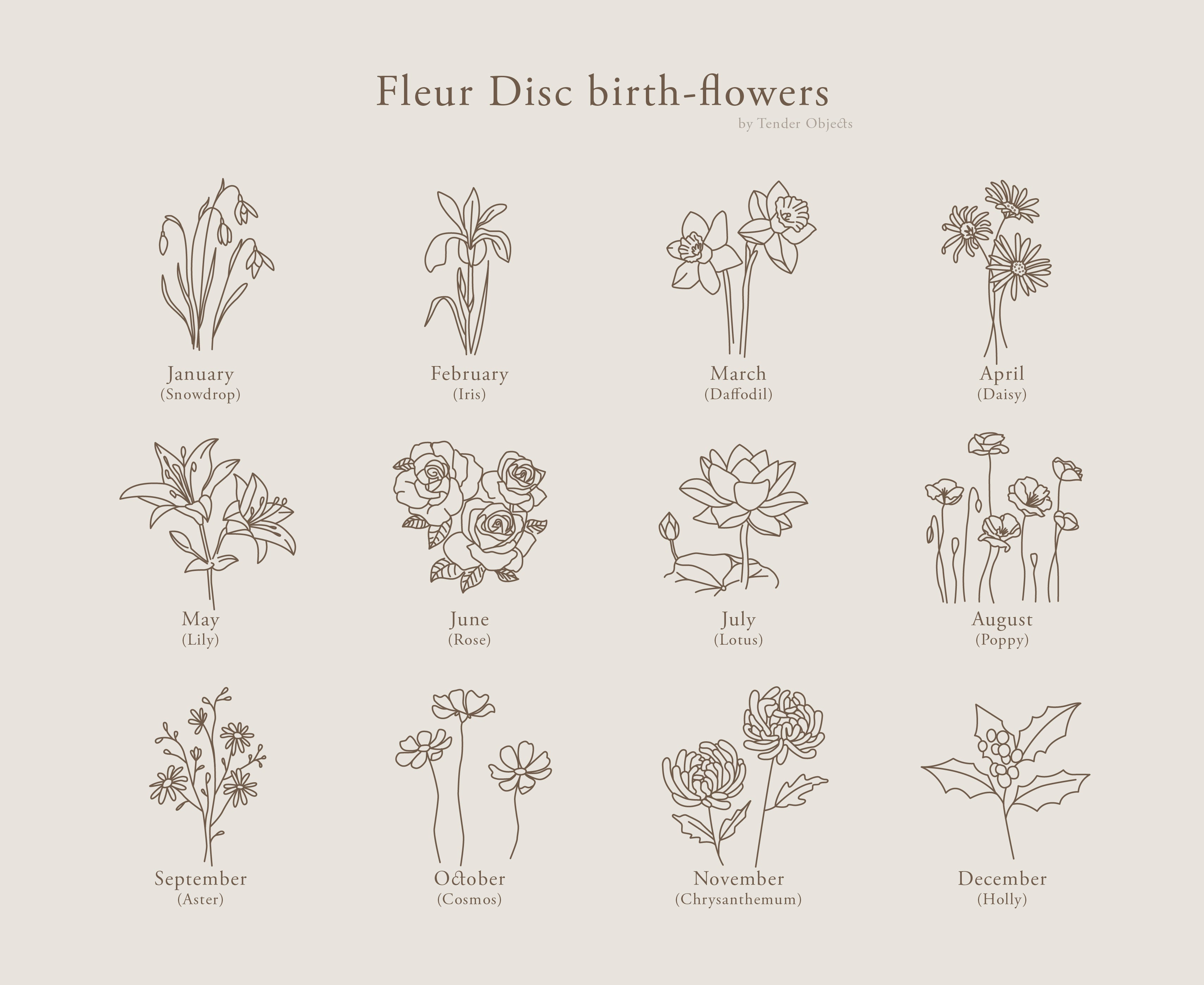 Fleur Disc birth-flowers