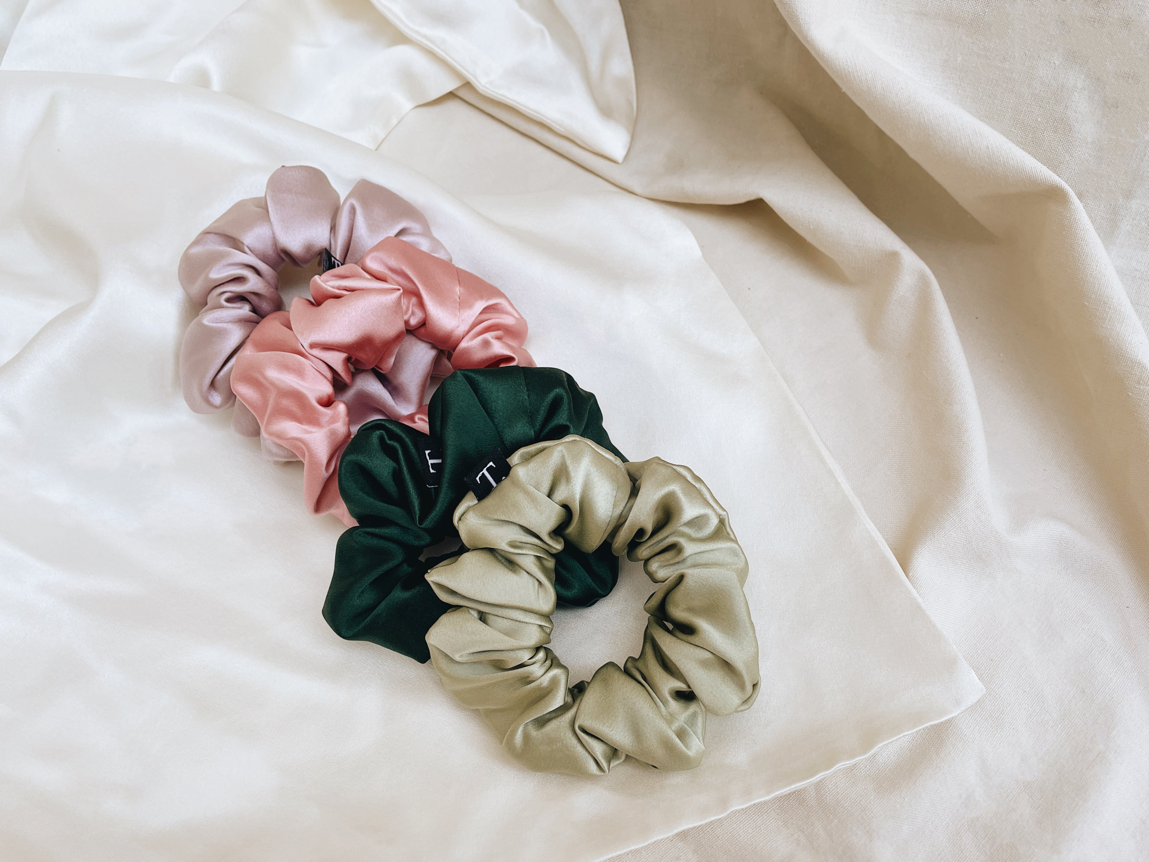 In The Garden - 35mm silk scrunchies