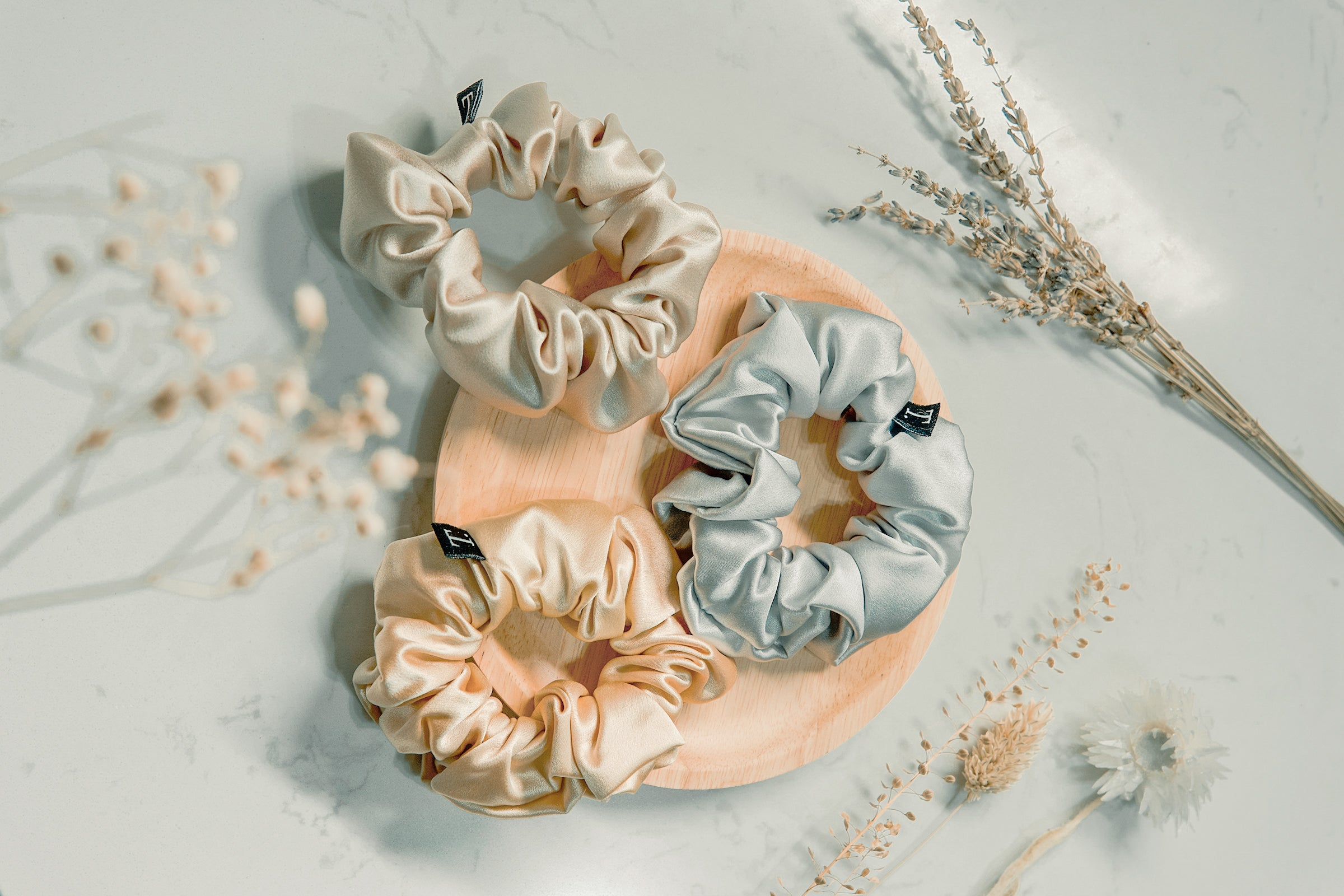 35mm Silk Scrunchie<br> - Soft Peony (Limited Edition)