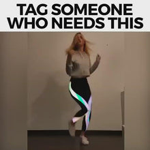 Load and play video in Gallery viewer, Rainbow Reflective Leggings