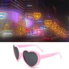Load image into Gallery viewer, Love Heart Effect Diffraction Glasses