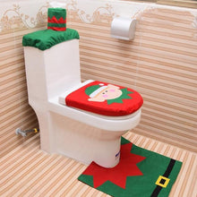 Load image into Gallery viewer, Christmas Decoration Toilet Seat Cover Set