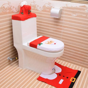 Christmas Decoration Toilet Seat Cover Set