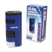 Load image into Gallery viewer, Carson PocketMicro 20-60x Microscope LED Zoom (mm450)