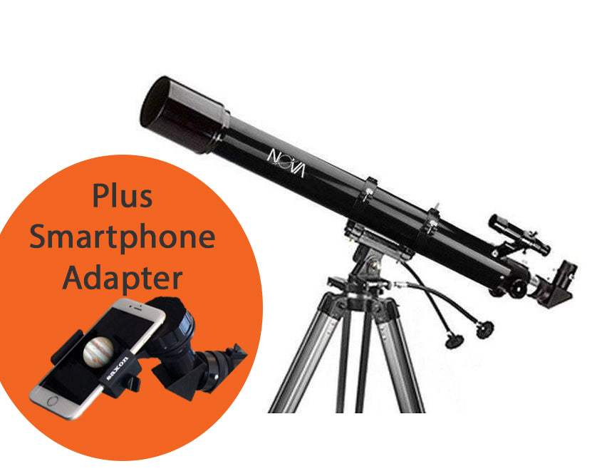 Nova 709 AZ3 Refractor Telescope with Smart Phone Adapter