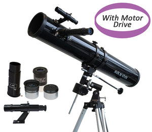 saxon 1149 EQ Astronomy Reflector Telescope with Motor Drive