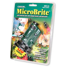 Load image into Gallery viewer, Carson MicroBrite 20-40x  Zoom Microscope (mm24)