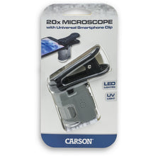Load image into Gallery viewer, Carson 20x Microscope w/ Phone Adapter (mm380)