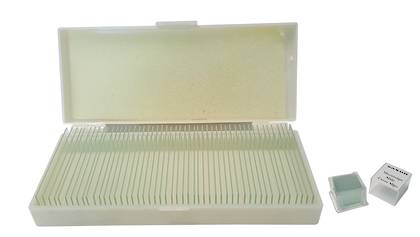Saxon 50 pcs Pre-Cleaned Blank Slides & Cover Slips with Case (310050)