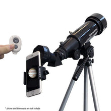 Load image into Gallery viewer, Saxon 707 AZ2 Refractor Telescope with Saxon ScopePix 2s Smartphone Adapter
