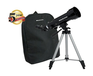 saxon 70mm Beginners Travel Telescope with Tripod, Mount and Backpack