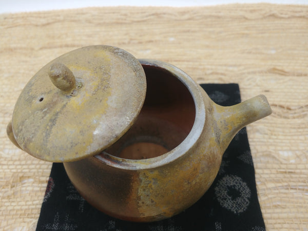 Wood-Fired, Stoneware Teapot. Handmade by Jonathan Steele (1/4)