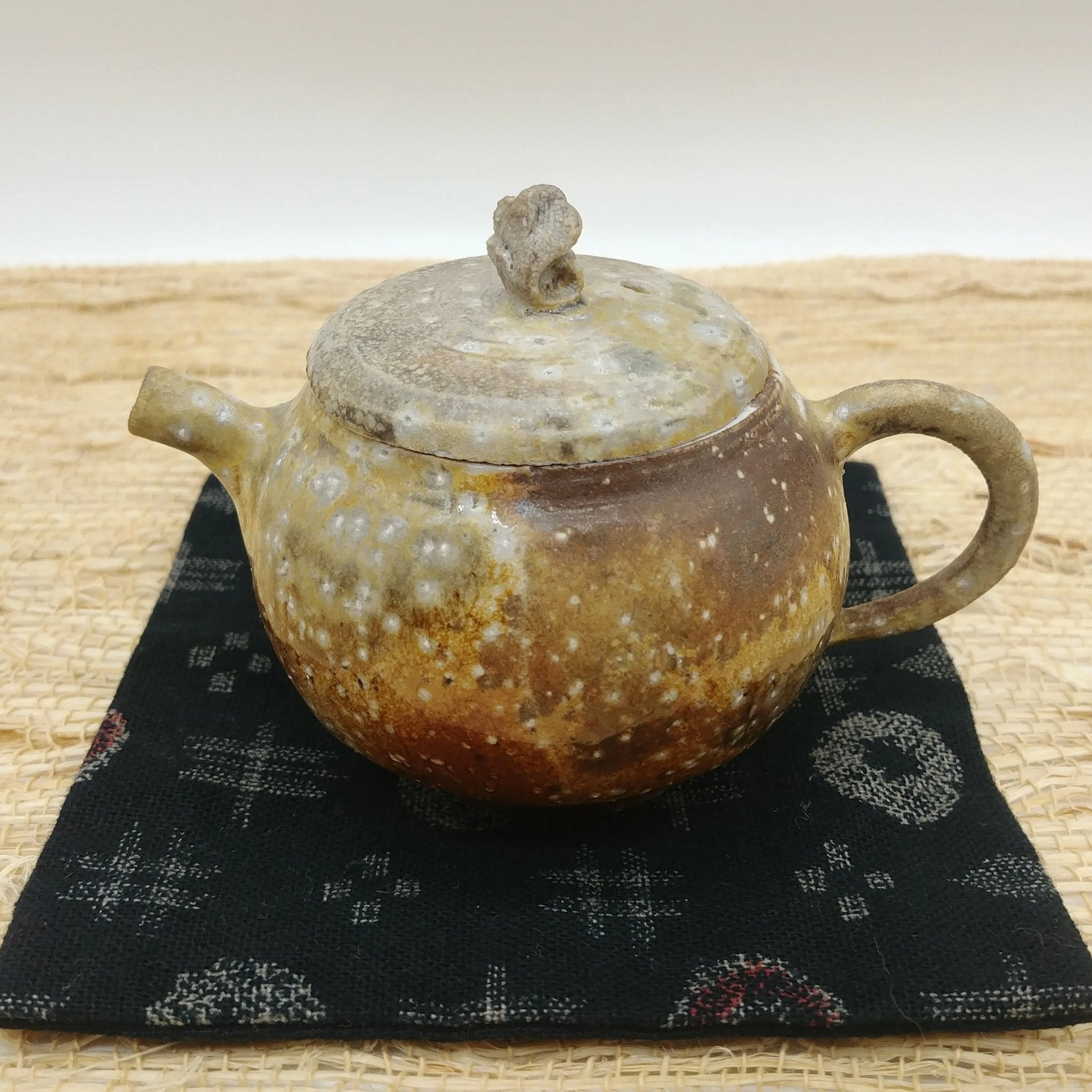 Wood-Fired, Stoneware Teapot. Handmade by Jonathan Steele (2/4)