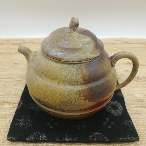 Wood-Fired, Stoneware Teapot. Handmade by Jonathan Steele (3/4)