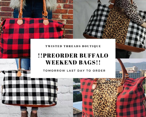 BUFFALO Plaid Weekend Bags